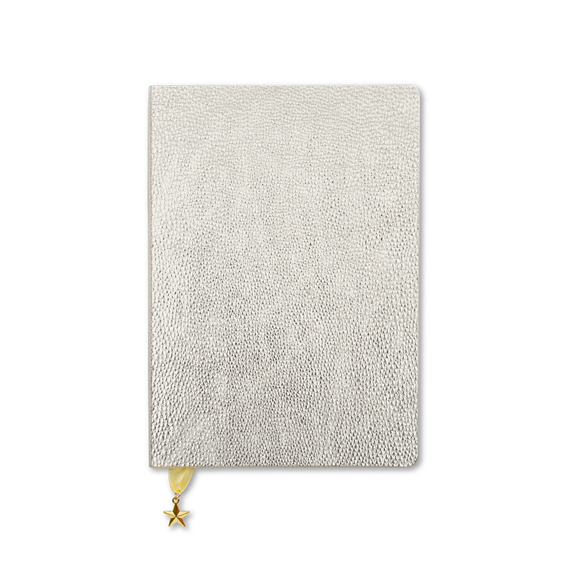 Libreta A5 All That Glitters - Silver Metallic