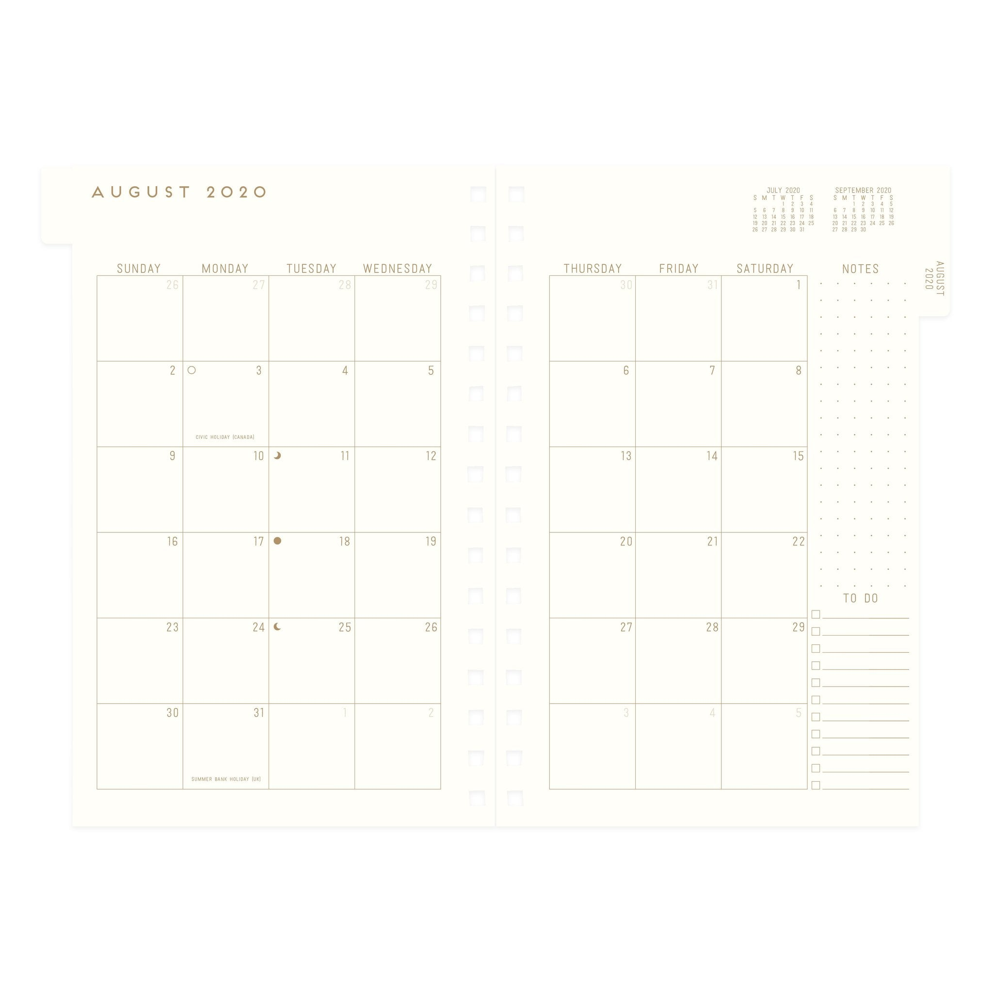 Agenda Black Planners Gonna Plan - 17 Month Hardcover Twin Wire Monthly Planner 2020-2021