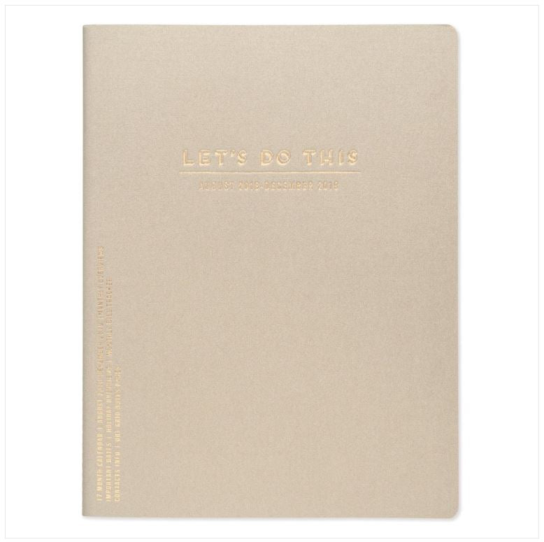 Planner Mensual 8.5x11 - LET S DO THIS (PEARLIZED CHAMPAGNE) 2018-2019