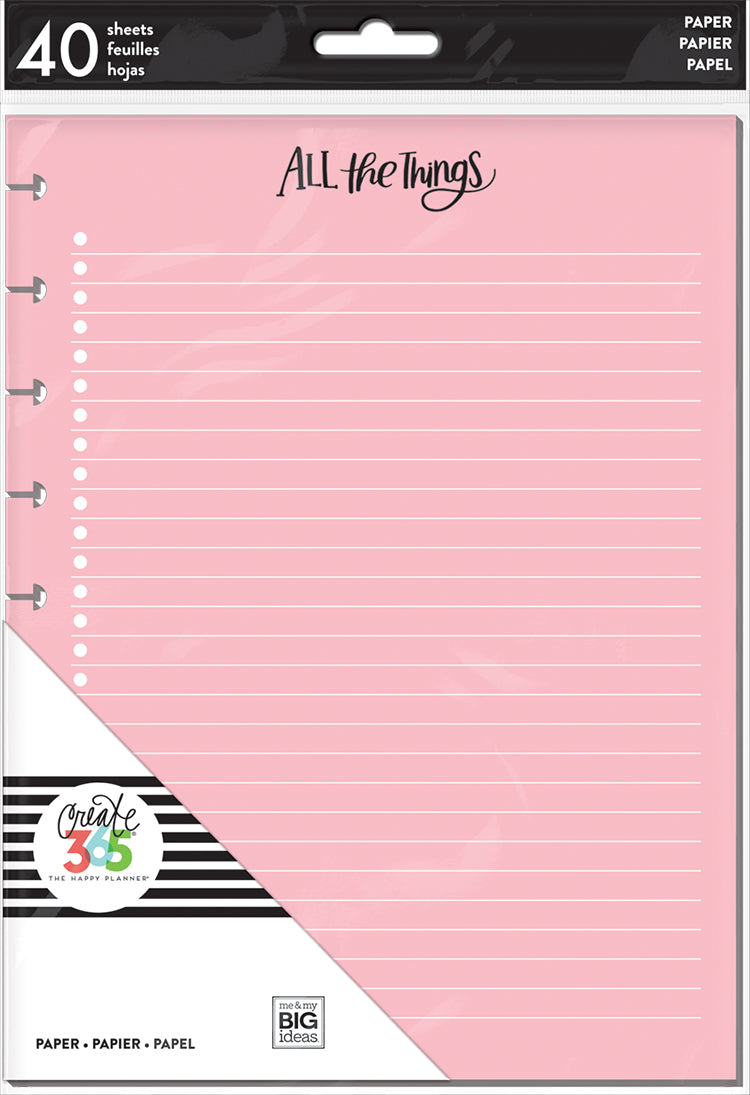 Hojas CLASSIC Happy Planner Colores