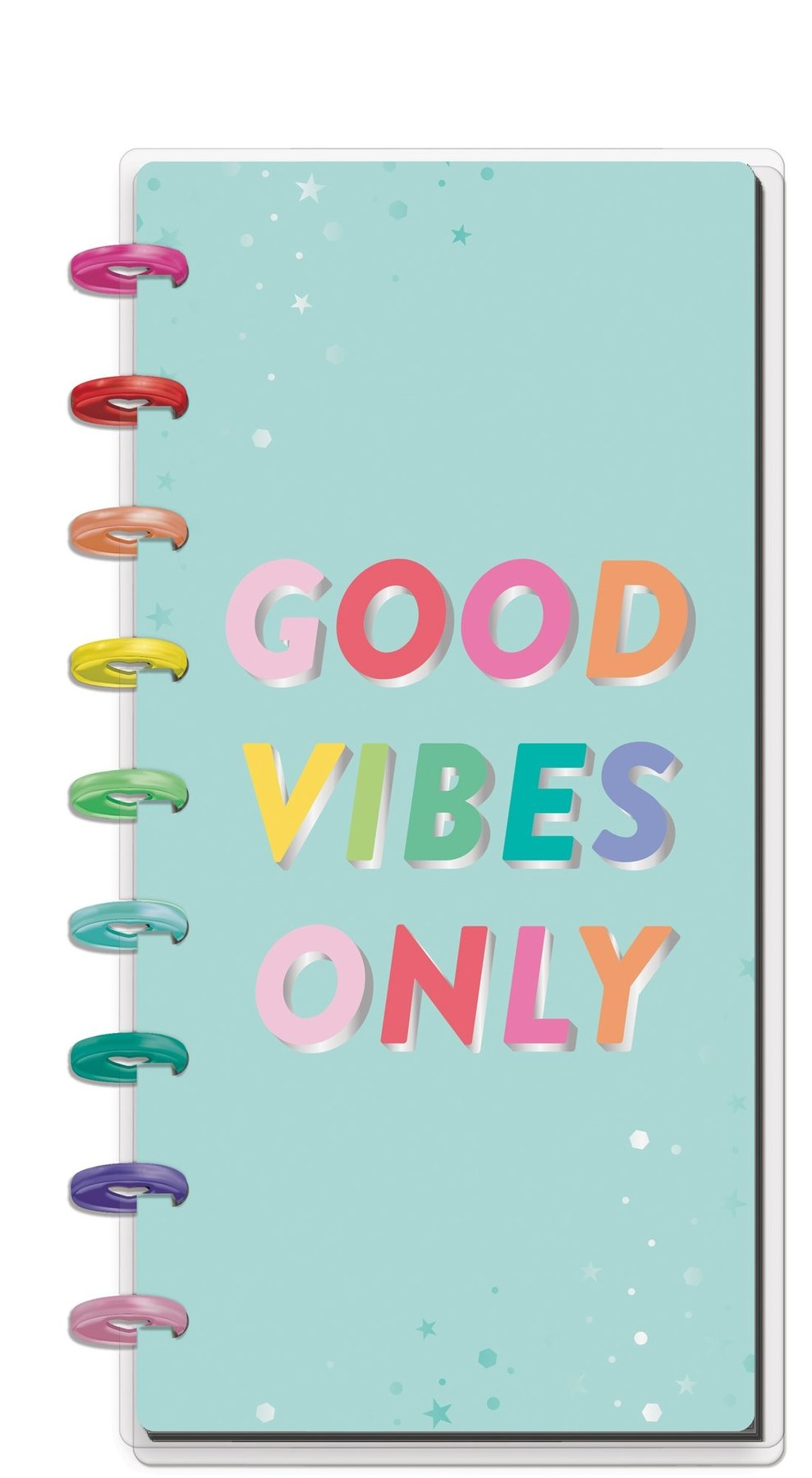 Libreta Skinny Happy Planner - Good Vibes Only
