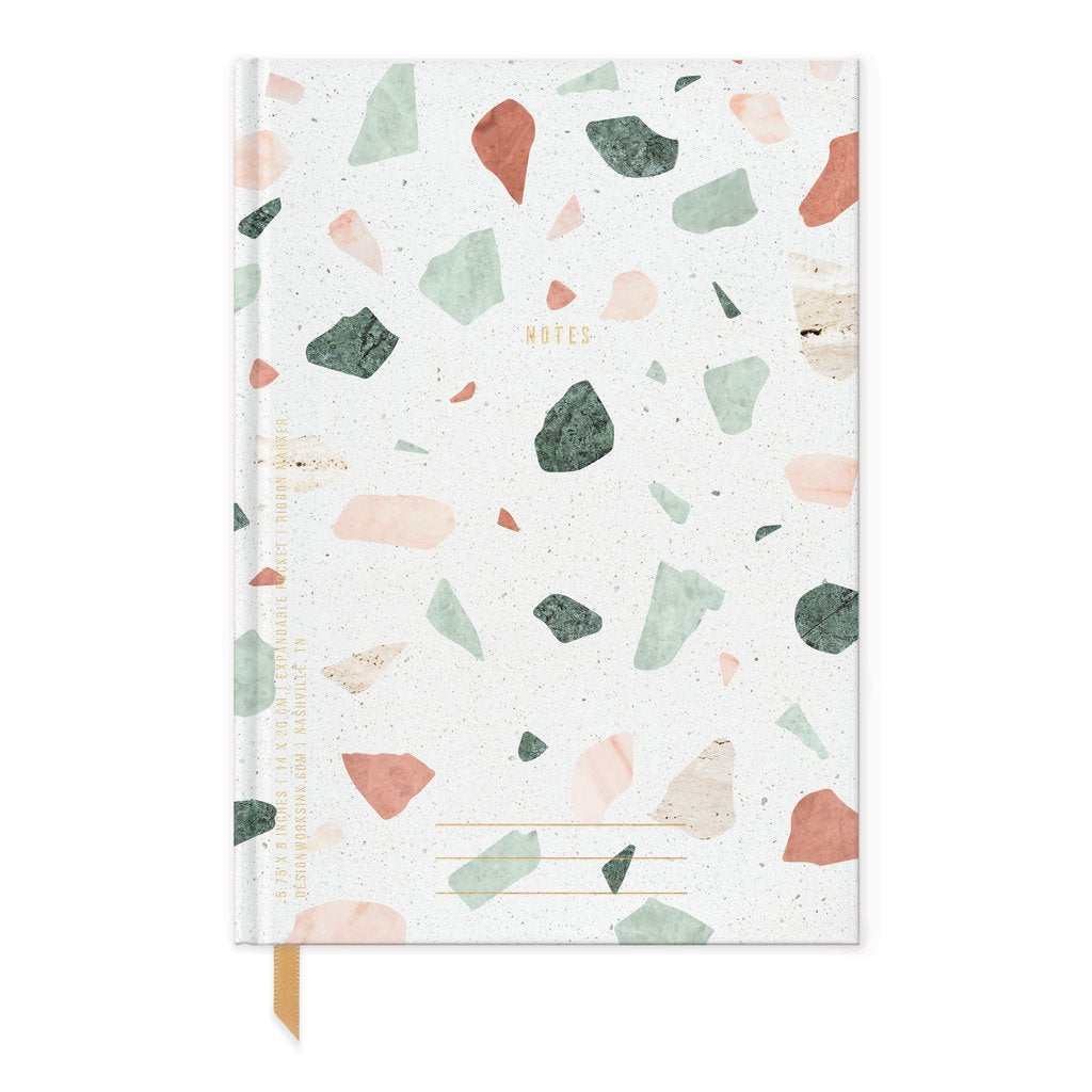 Terrazzo Notes - Soft Touch Hardcover Book Bound