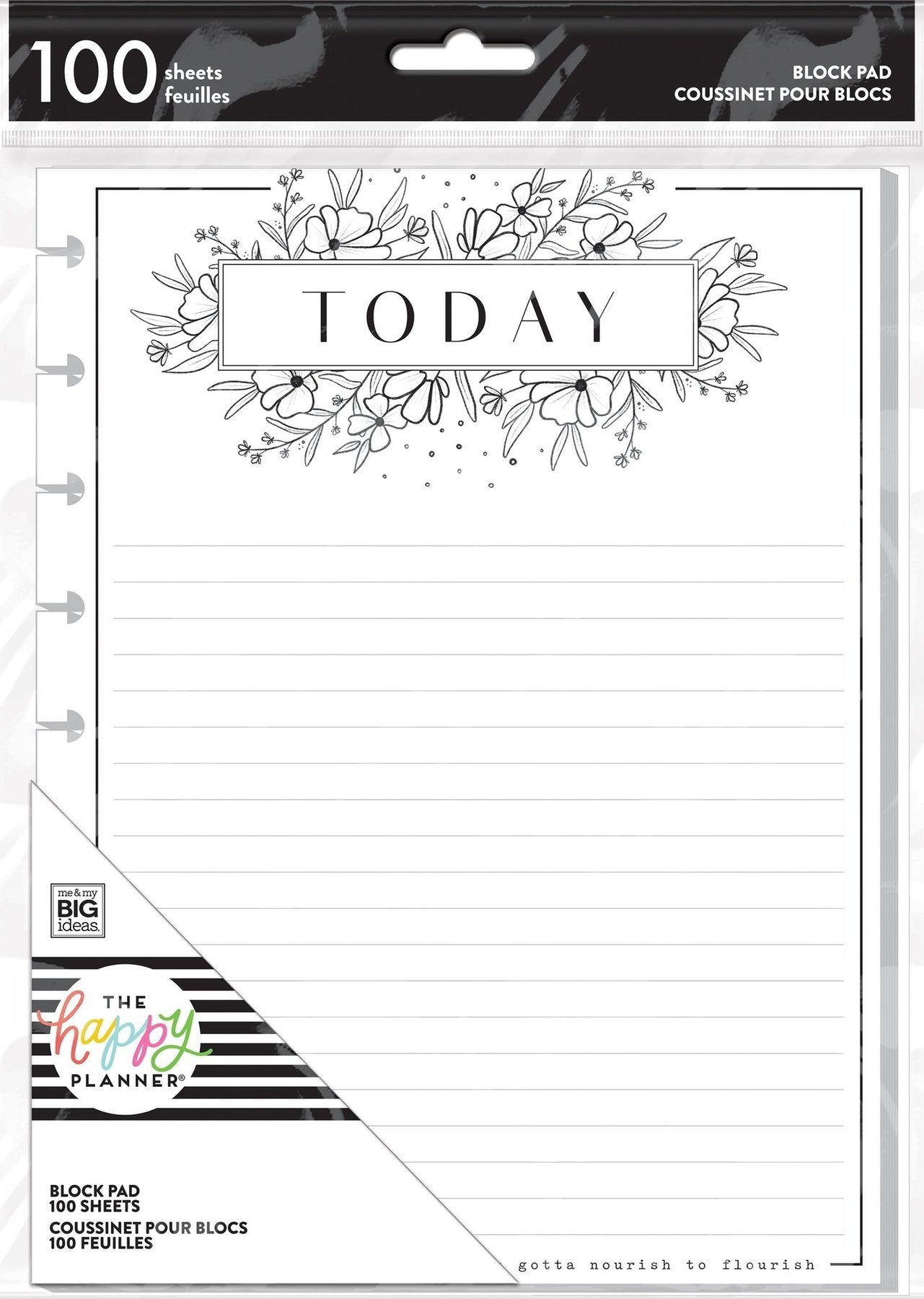 Classic Block Paper Pad - Black And White Floral