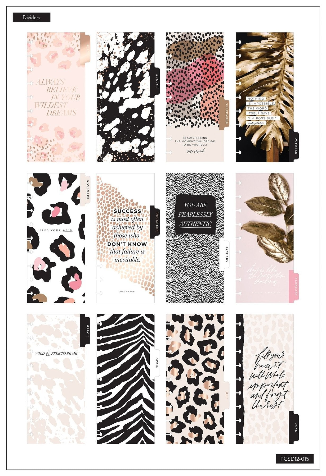 Skinny Classic Happy Planner® - Beauty Begins - 12 Meses 2020-2021