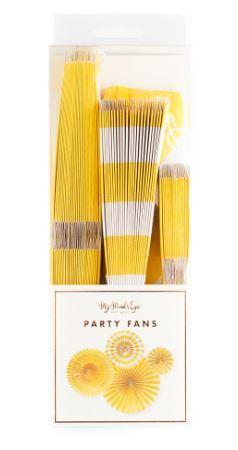 Basics Party Fans-Yellow