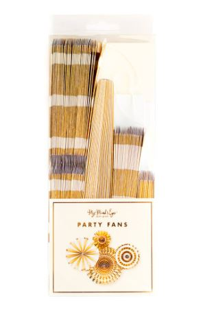 Basics Party Fans-Gold