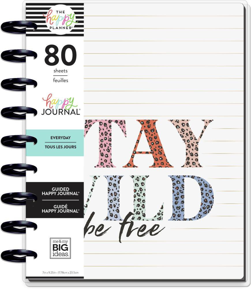 Libreta Clásica Happy Notes Colorful Leopard Guided Journal