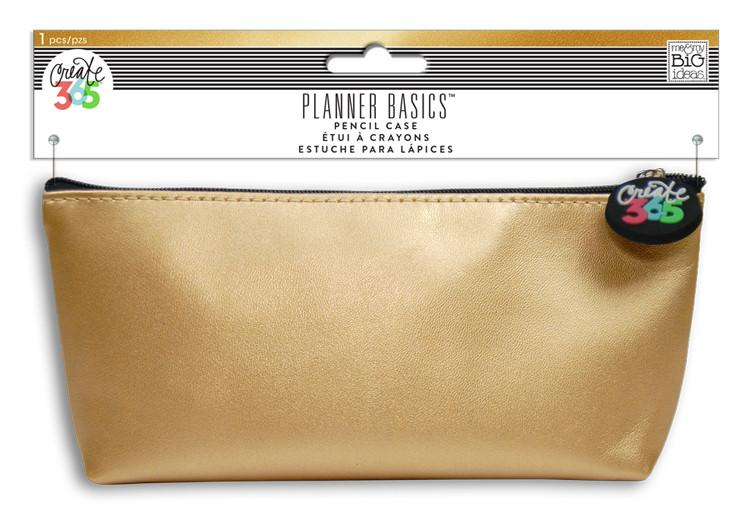 Gold Pencil Pouch Planner Basi