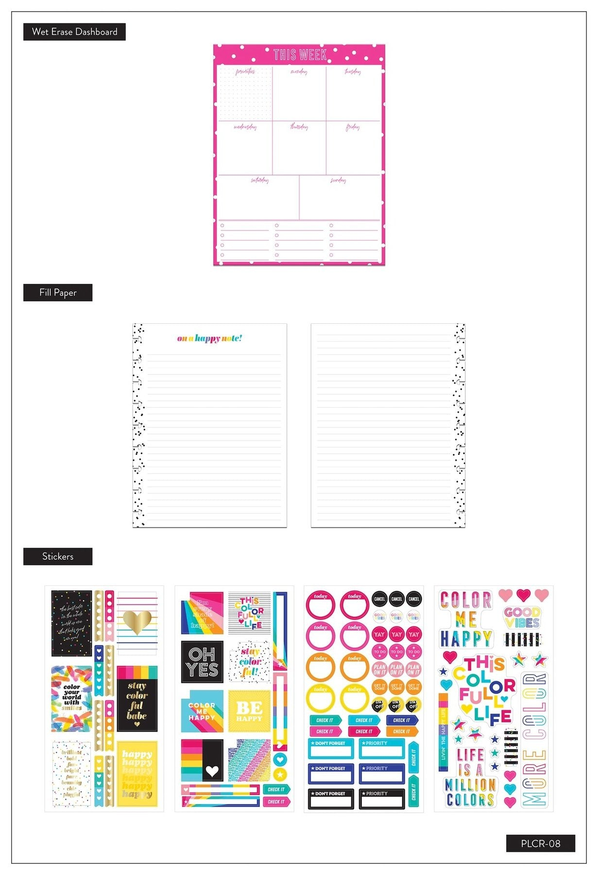 Classic Planner Companion - Color Me Happy