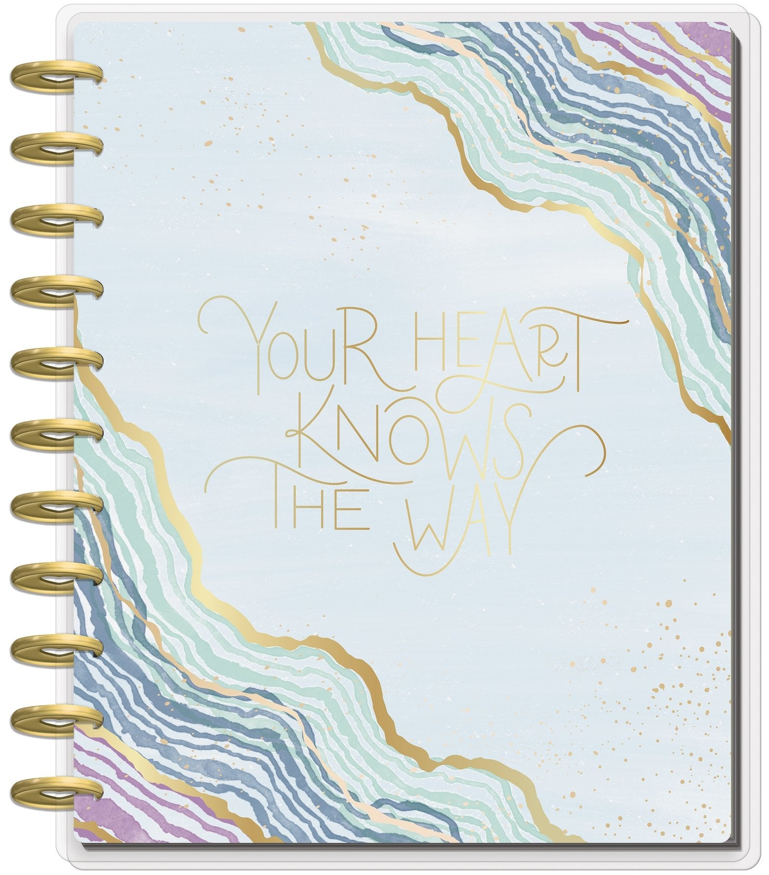 Agenda BIG Monthly Happy Planner® - Soft Modern Geode - 18 Meses 2020-2021