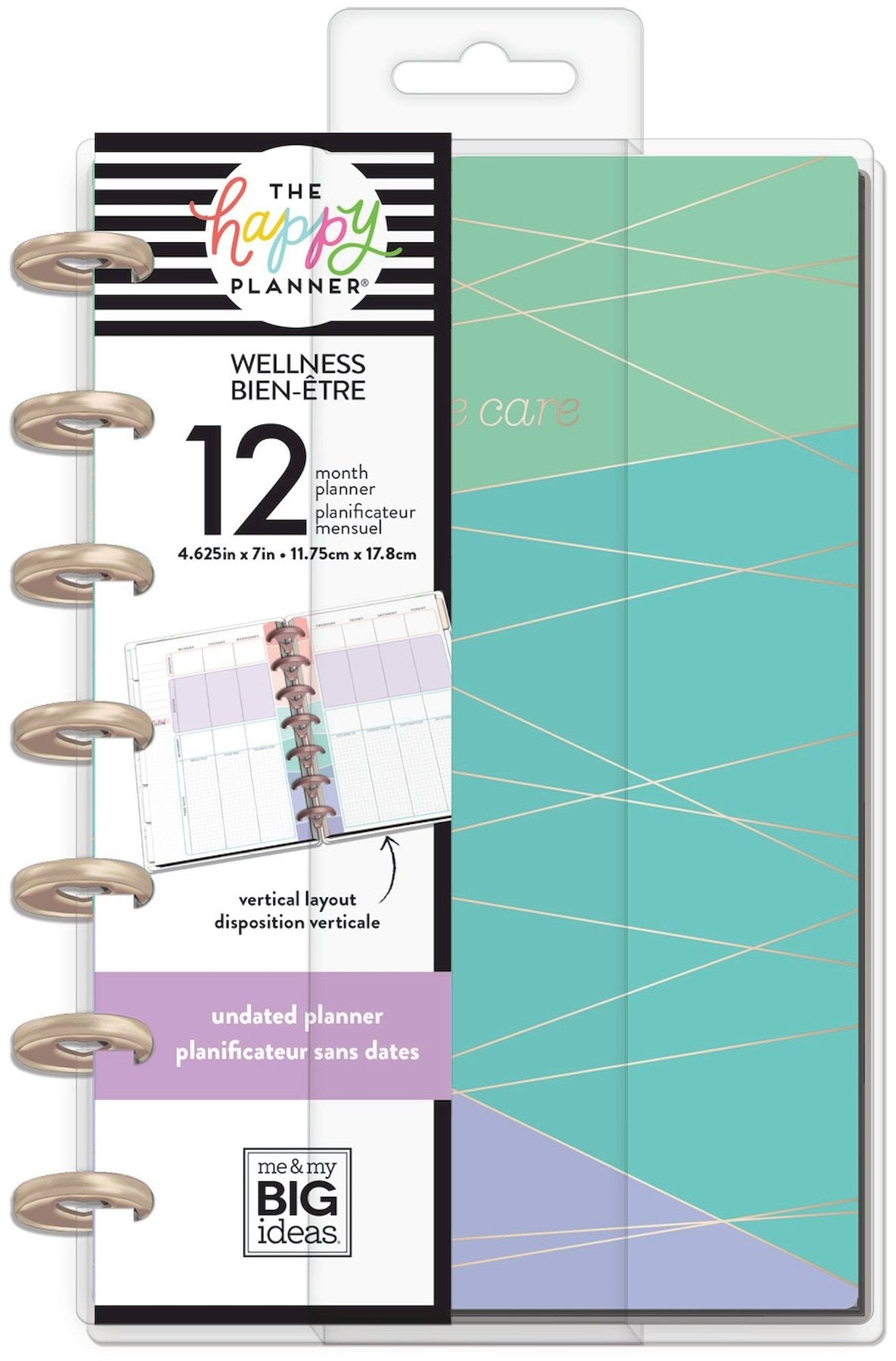 Agenda Happy Planner Mini 12 Meses Sin Fecha Wellness