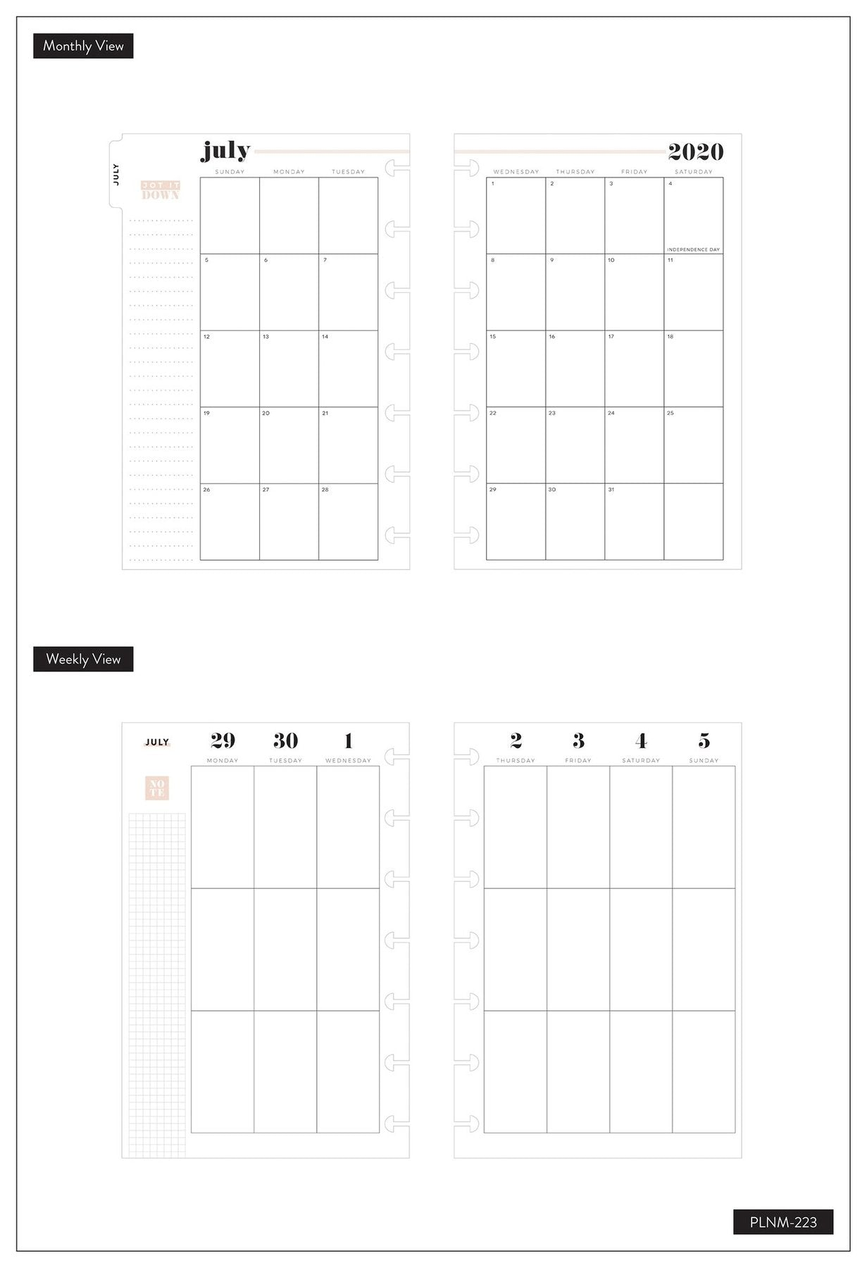 Mini Vertical Happy Planner® - Wild Styled - 12 Meses 2020-2021