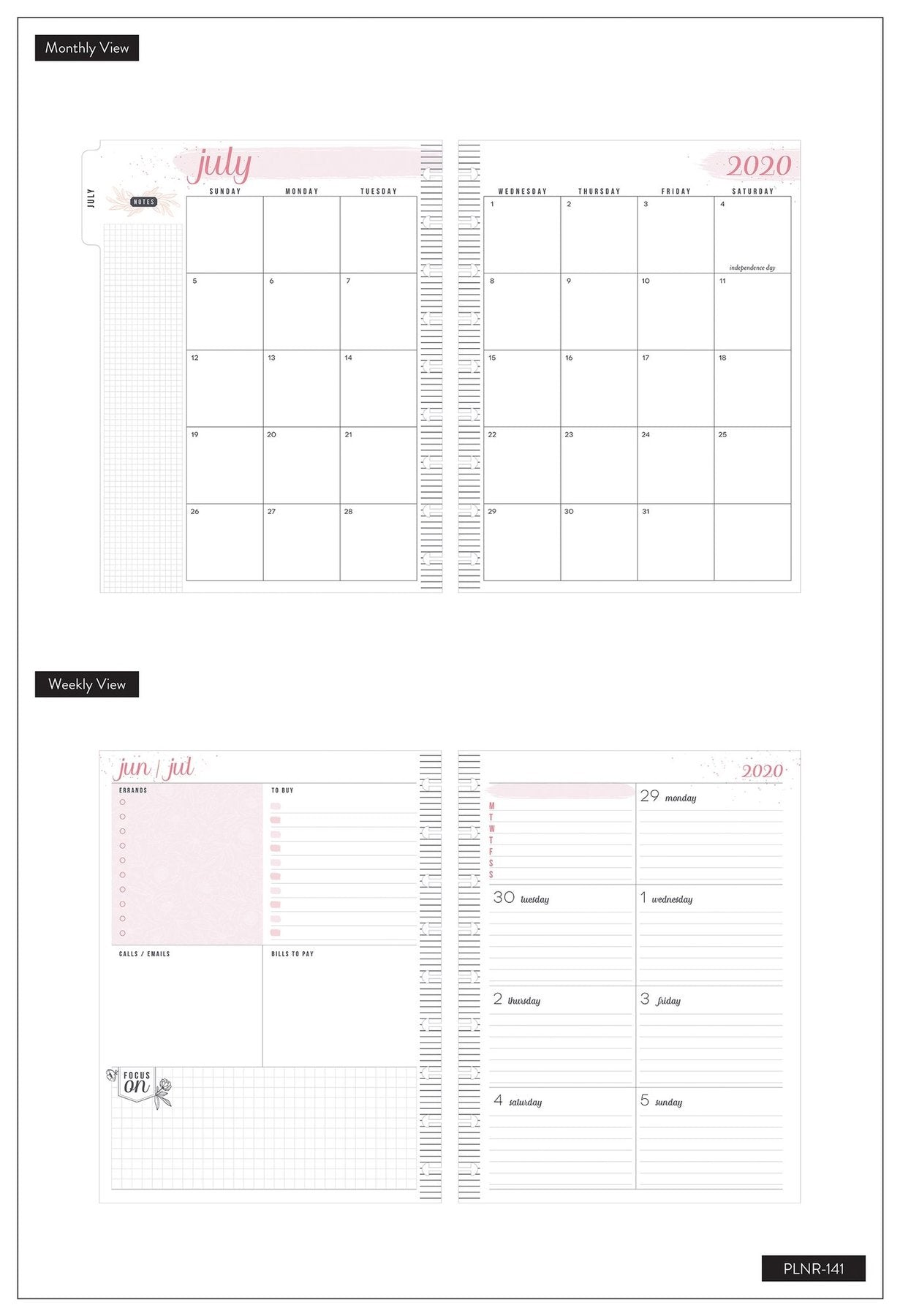 Agenda Happy Planner Clásica Dashboard - Modern Farmhouse - 18 Meses 2020-2021