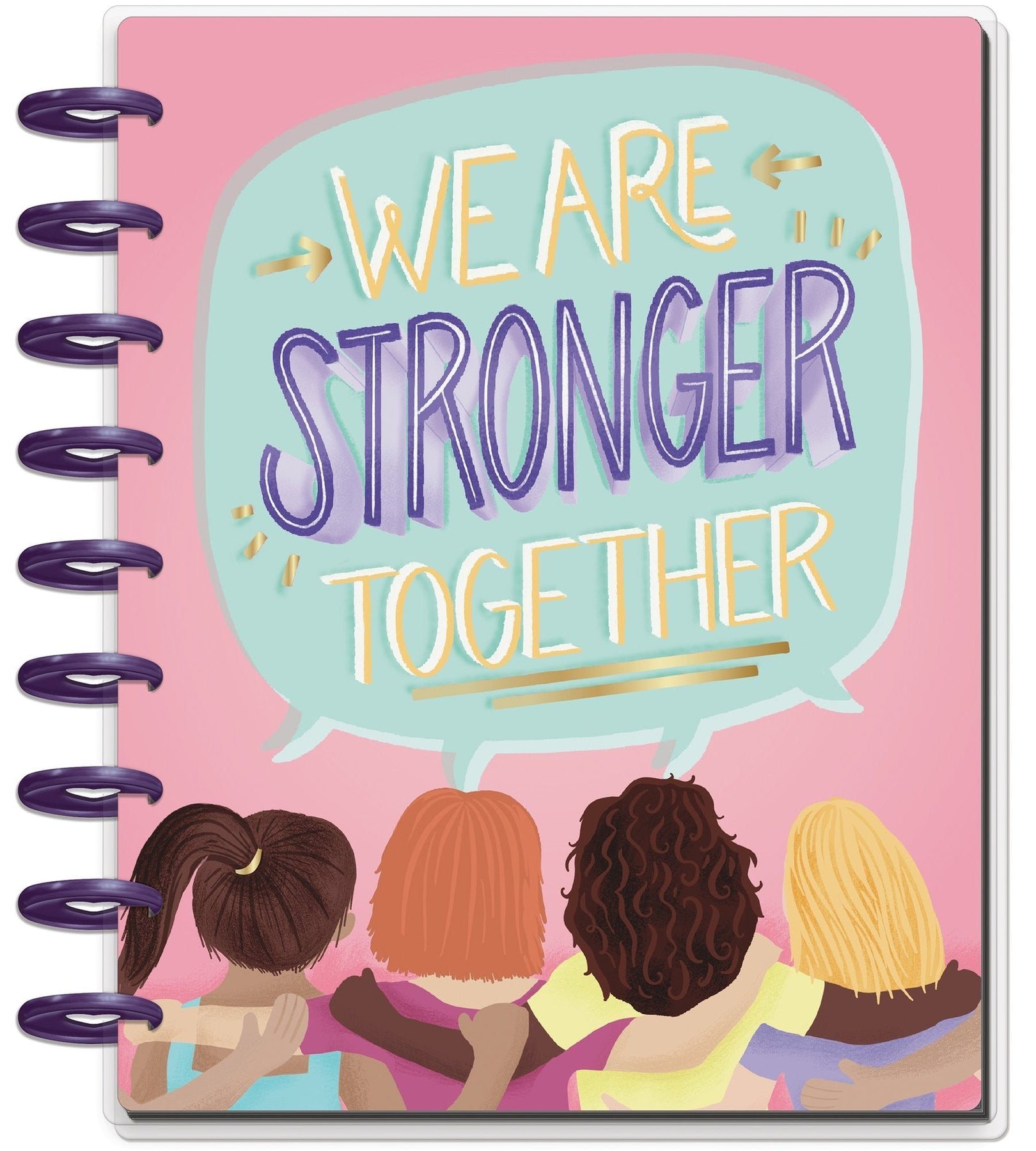 Agenda Happy Planner Clásica Vertical - Stronger Together - 18 Meses 2020-2021