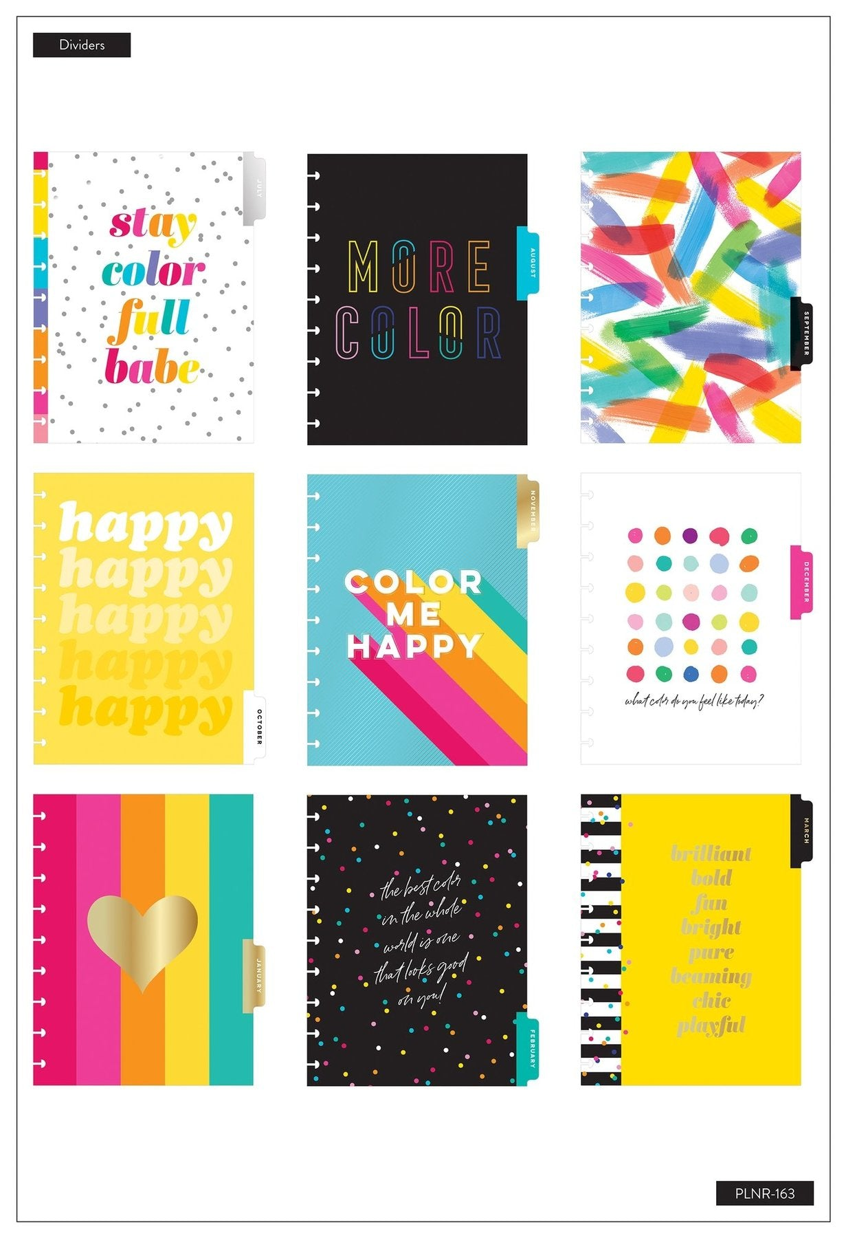 Agenda Happy Planner Clásica Lined Vertical - Color Me Happy - 18 Meses 2020-2021