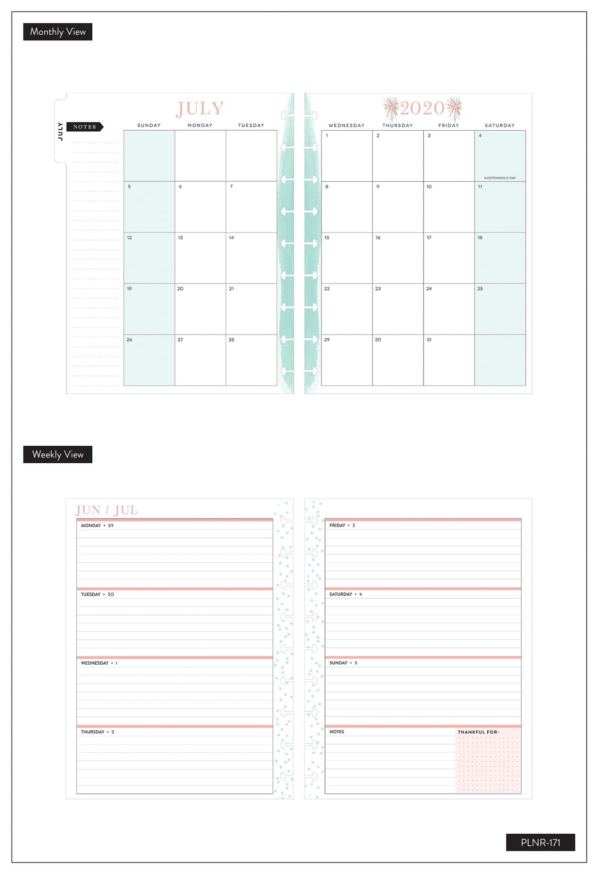 Agenda Happy Planner Clásica Horizontal - Rongrong Babes Support Babes - 18 Meses 2020-2021