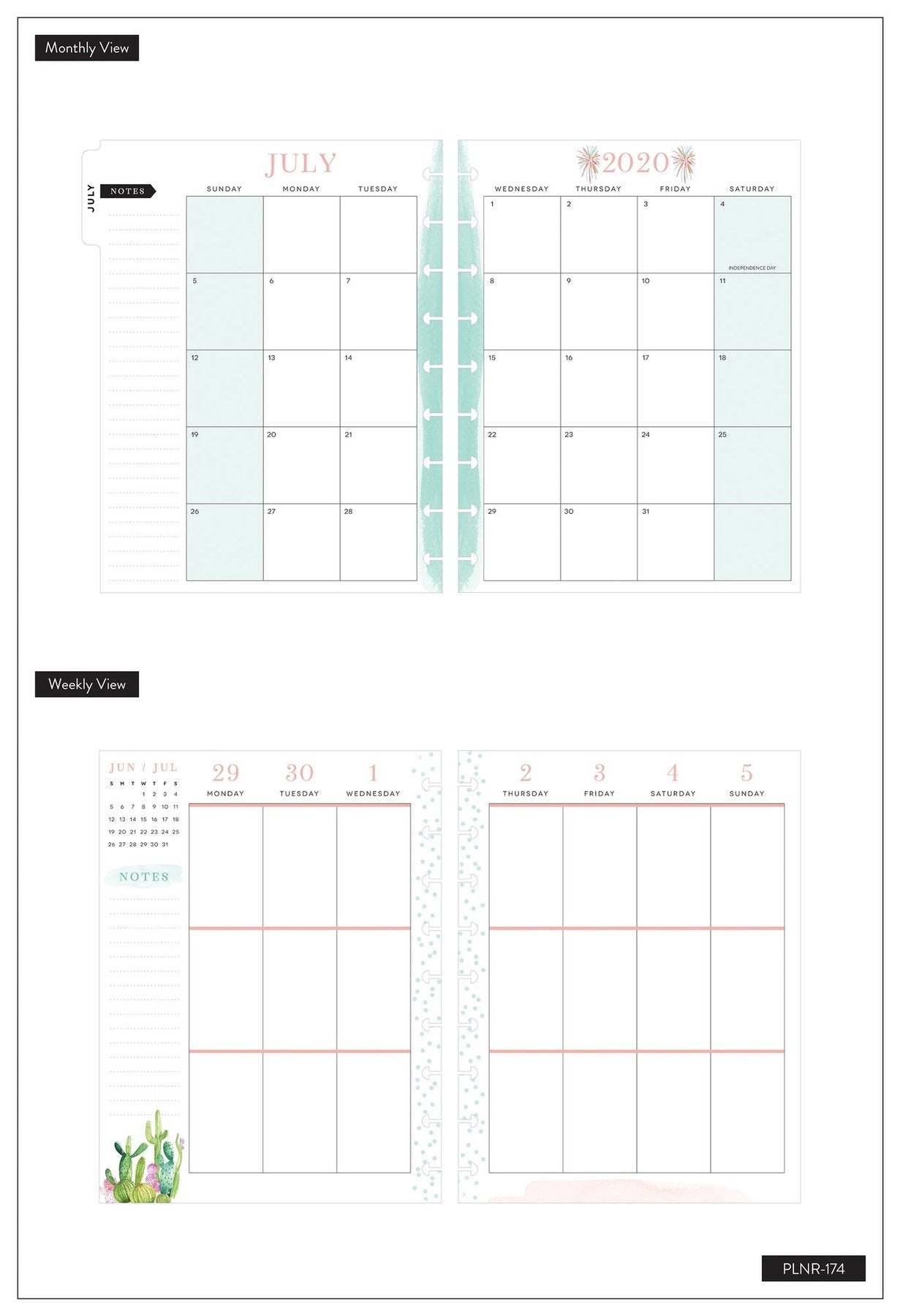 Agenda Happy Planner Clásica Vertical - RongRong Kind Women - 18 Meses 2020-2021
