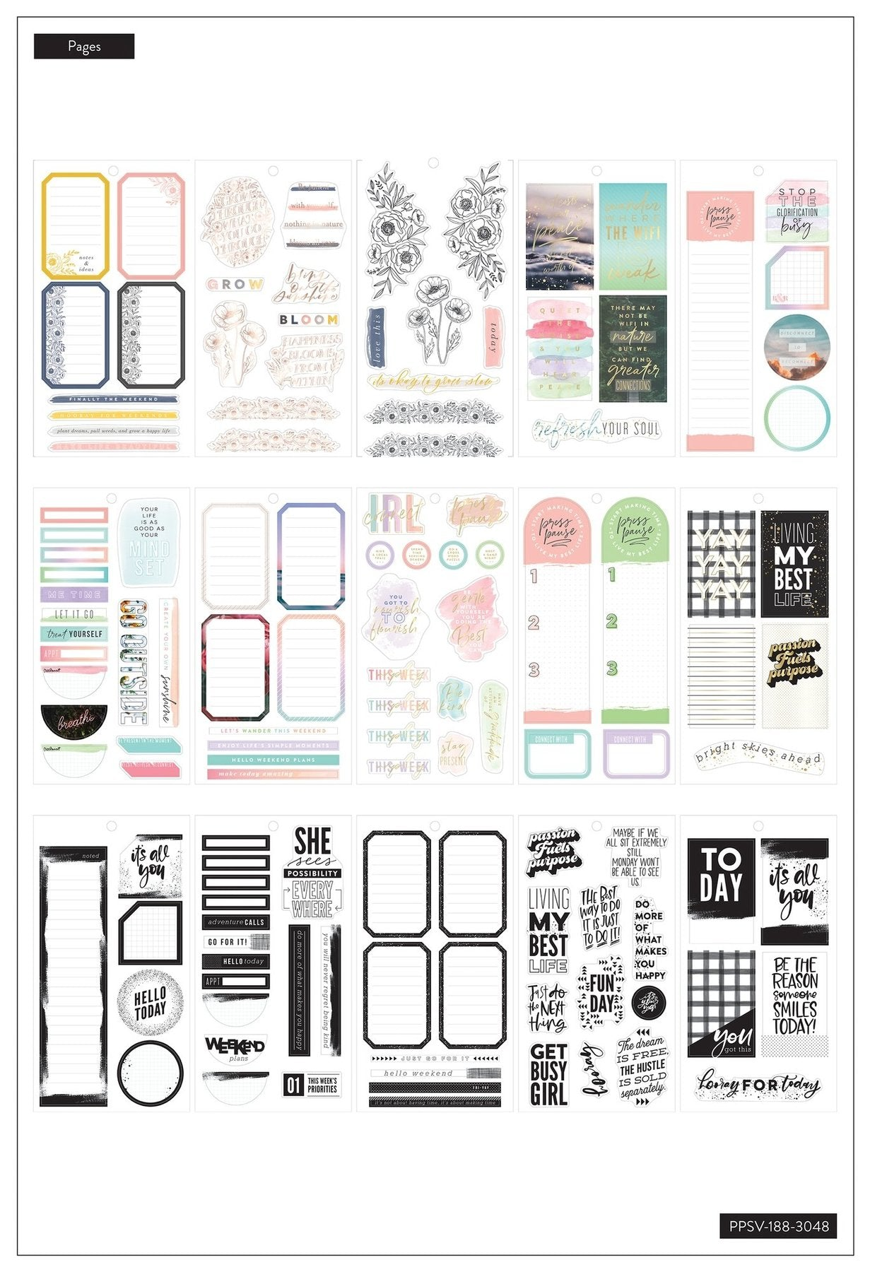 Value Pack Stickers - Colorful Boxes - BIG
