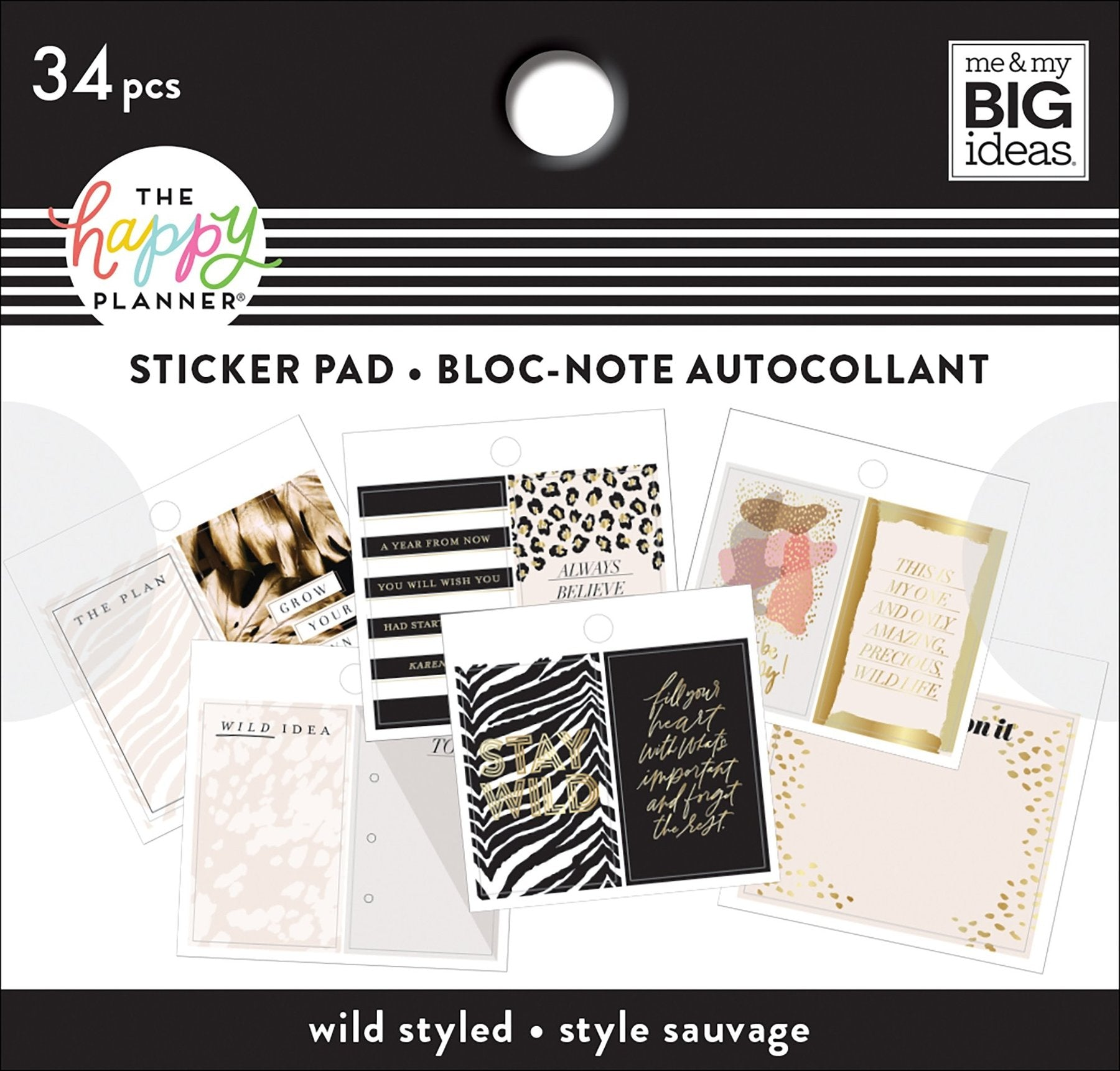 HP Tiny Stickers Pad Wild Styled