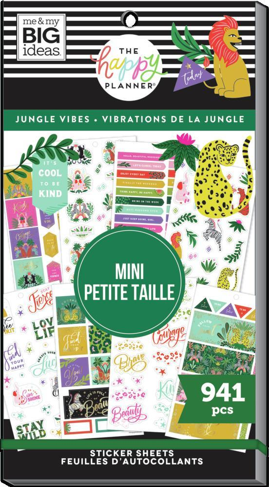 Pack de Stickers Jungle Vibes Mini 30 hojas