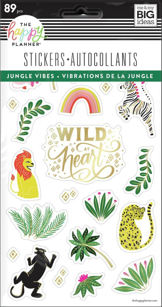 Pack de Stickers Jungle Vibes 5 hojas