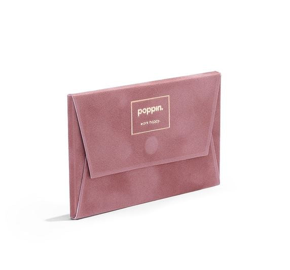 Velvet Card Case Dusty Rose