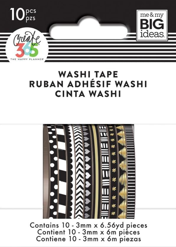 Black and White Mini Washi