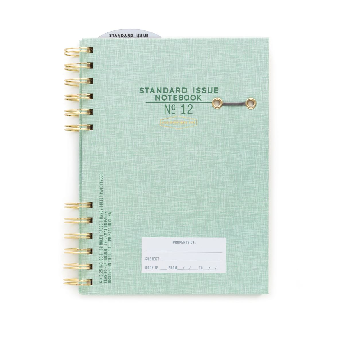 STANDARD ISSUE - GREEN TWIN WIRE JOURNAL