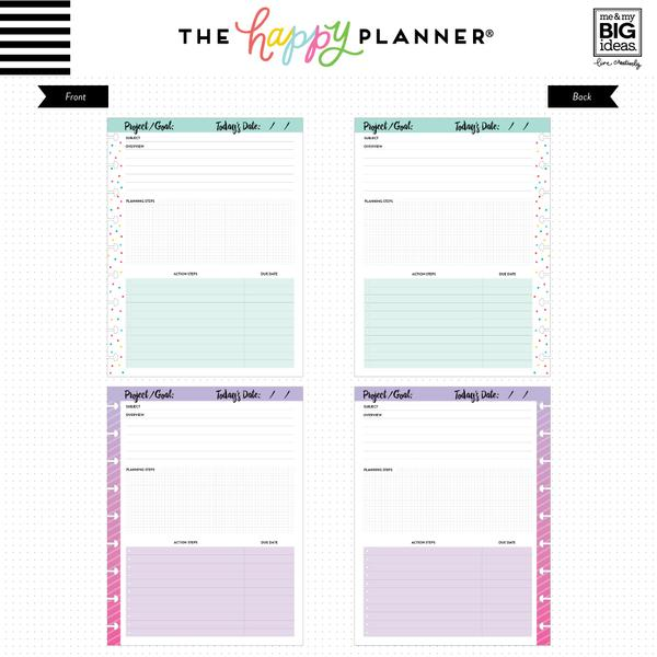 Hojas Classic Happy Planner Fill Projects Sheets