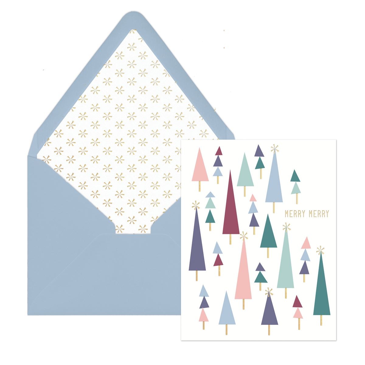 Tiny Trees Merry Merry - Boxed Lined Envelope Holiday Cards 12 Ct