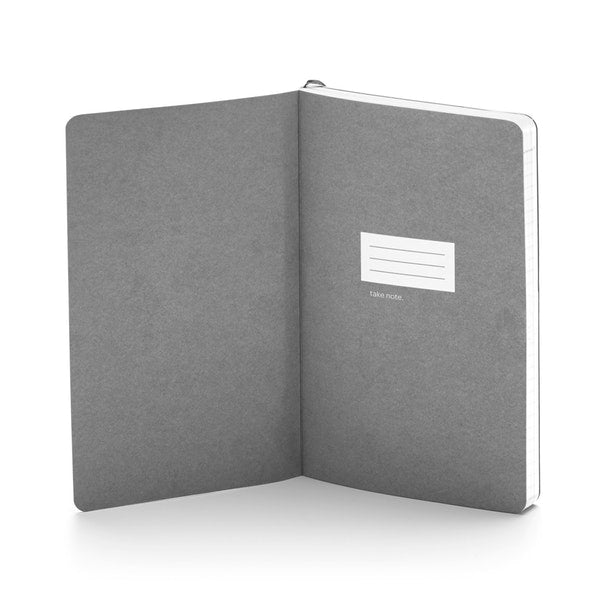 Metallic Gunmetal Medium Soft Cover Notebook