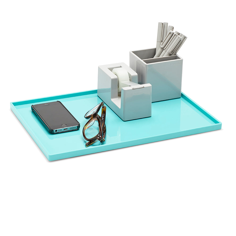 Large Slim Tray, Aqua