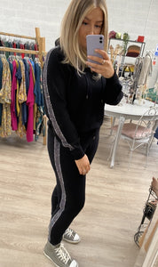Diamante Hoodie And Jogger Set