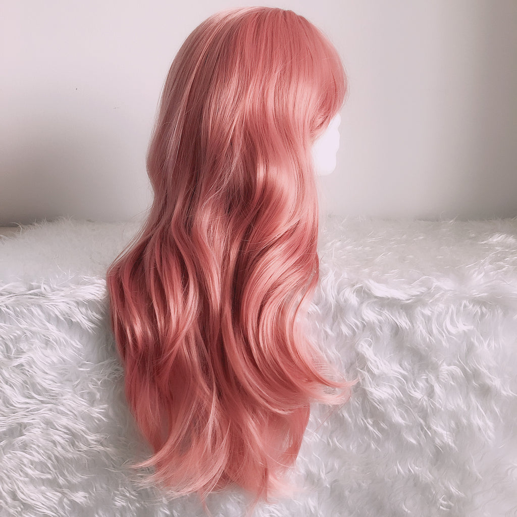 Long Wavy Wig 27 inch Natural Heat Resistant Fiber Cosplay Full Wig for women