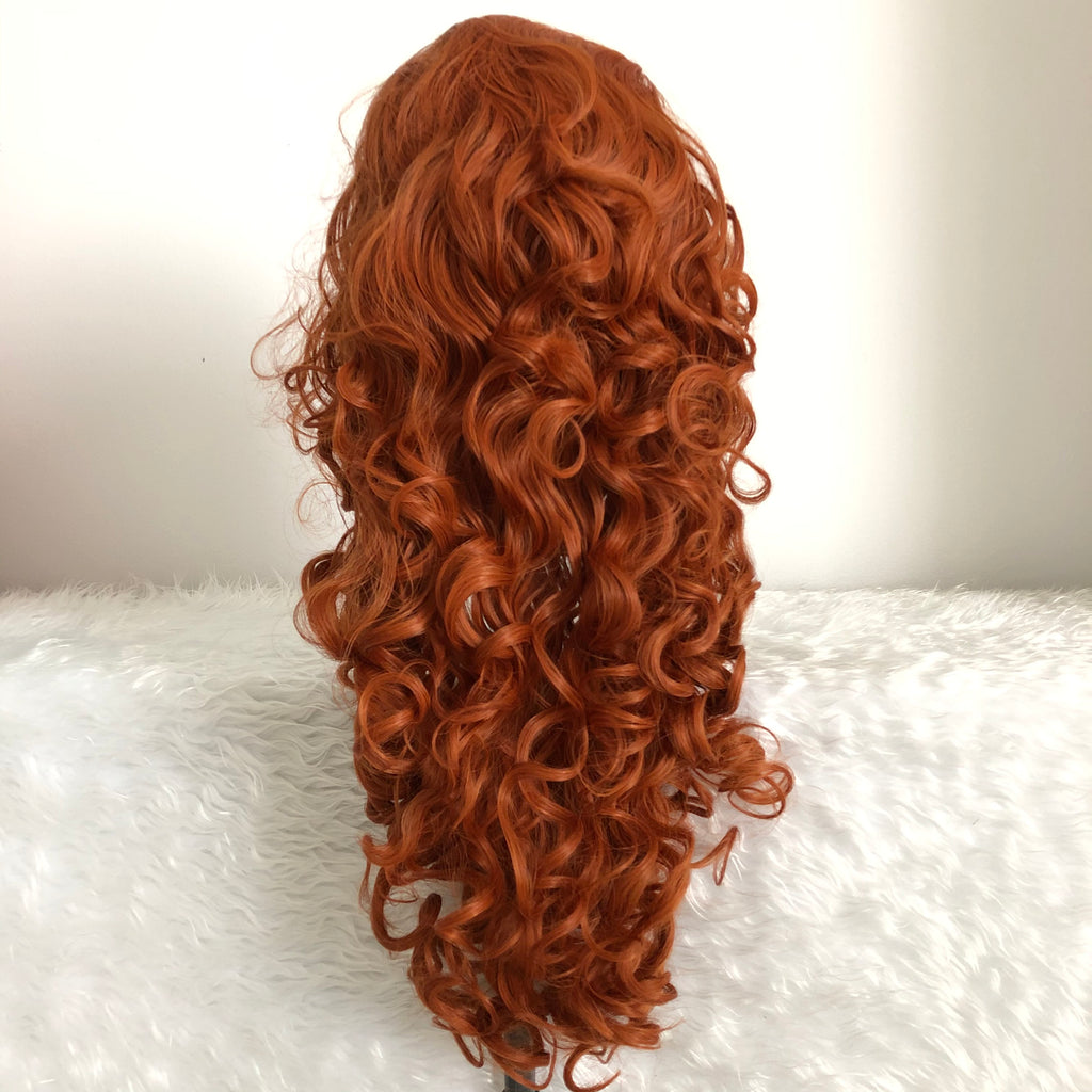 Rapunzel Wig Orange Long Synthetic Cosplay Women Wig