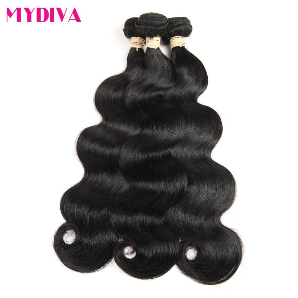Brazilian Body Hair Bundles Natural Color 100% Human Hair weave 1/3/4 Pieces Remy Hair Extensions