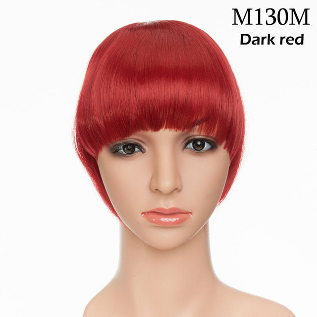 Clip In Bangs Hair Extensions Fringe hairpiece Synthetic blunt bangs for women