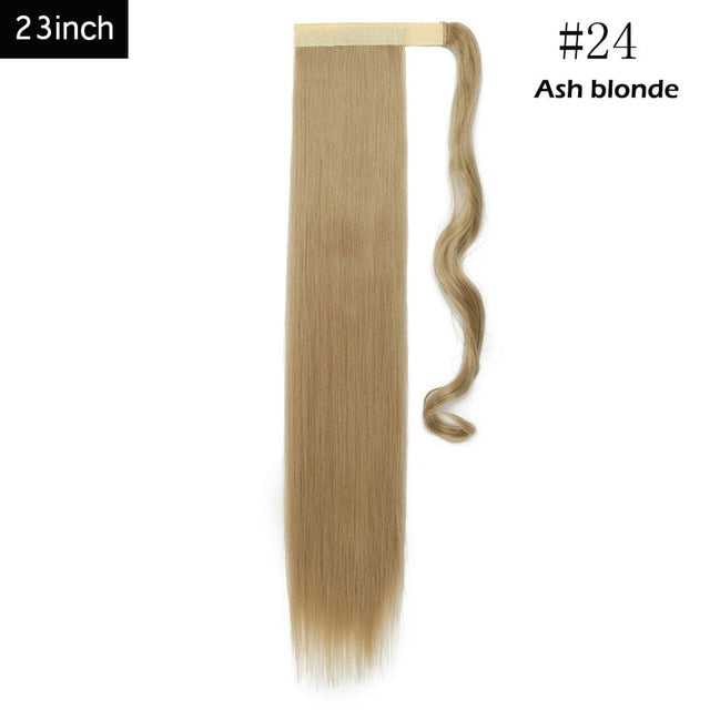 clip in ponytail hair extensions synthetic fiber wrap around ponytail hairpiece for women