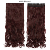 Long wavy Clip in One Piece Hair Extension half head real natural hair Synthetic clip in Hairpiece for women