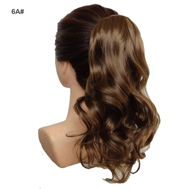 Short Wavy Ponytail Hair Extensions