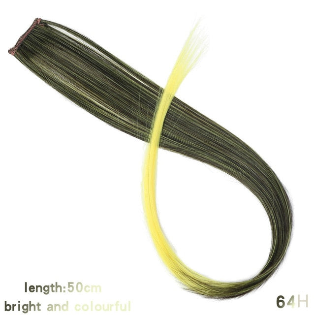 Colored Synthetic Hair Extensions Long