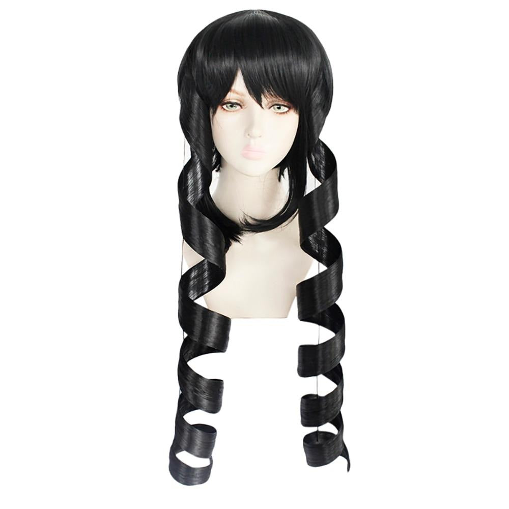 Cosplay Wig Black Spiral Curl Long Synthetic Hair