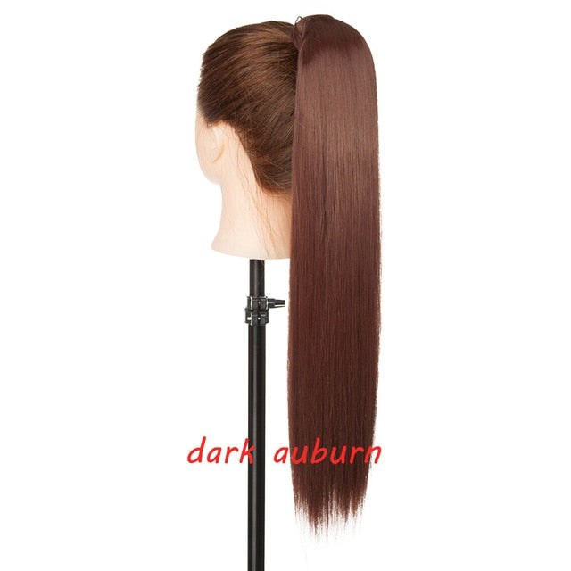 "23"" Long Clip In Ponytail Hairpiece with Hairpins synthetic Hair Extension"