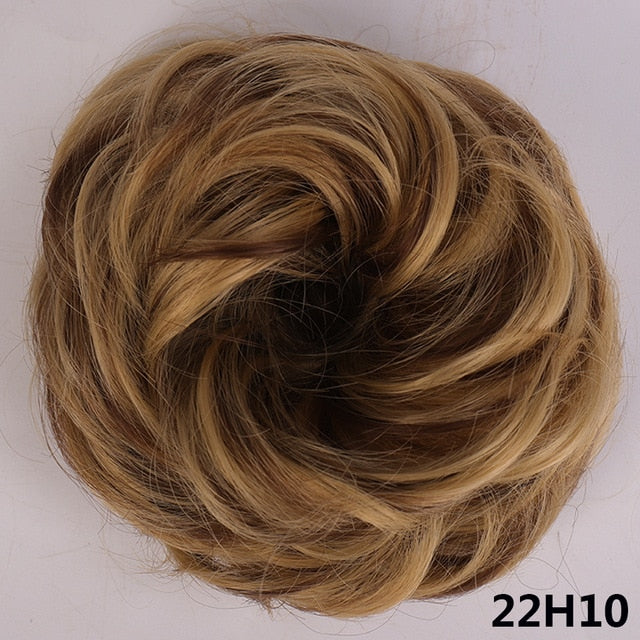 Curly Hair Bun Donut Synthetic Hair