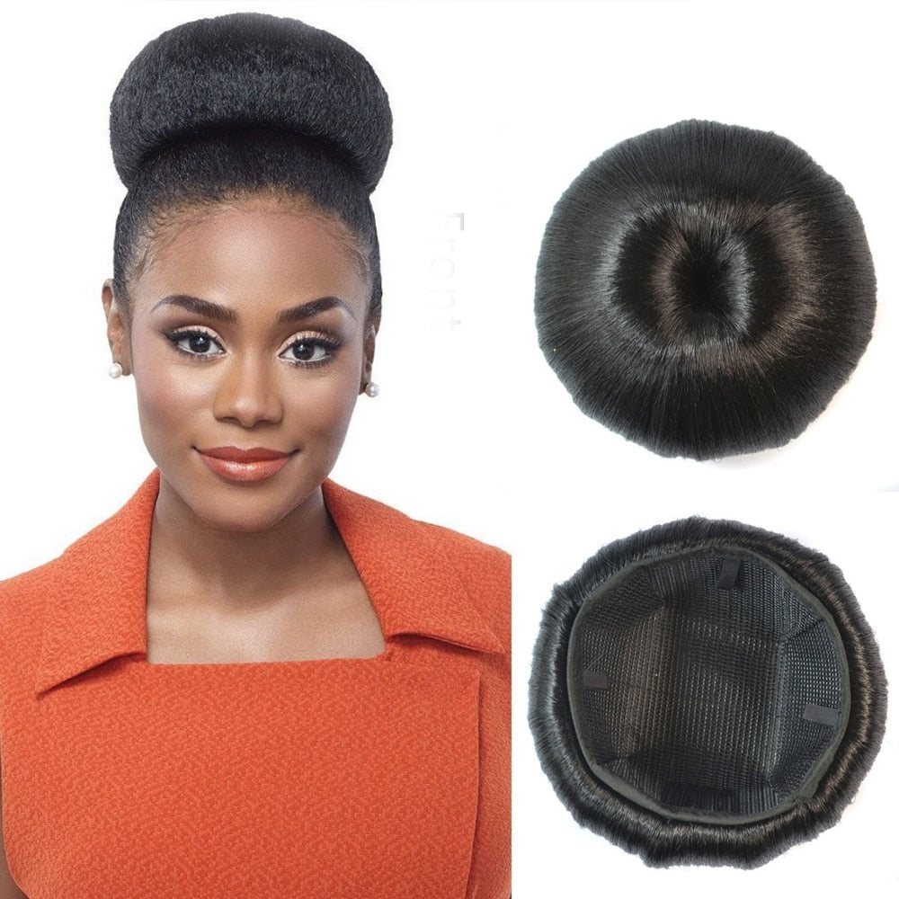 Fake Chignon Synthetic Donut Roller