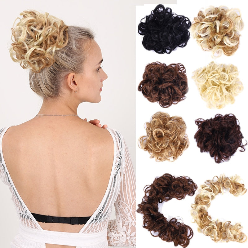 Curly Chignon Synthetic Hair Extension