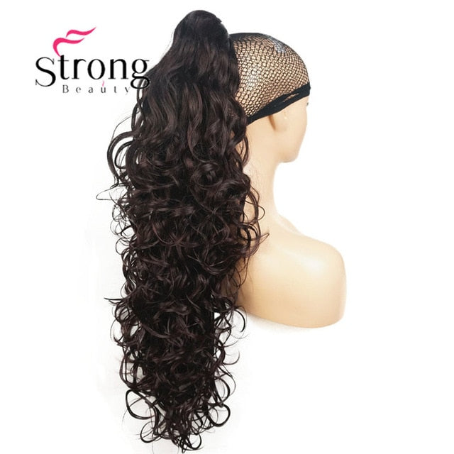 Synthetic Clip In Claw Drawstring Ponytail