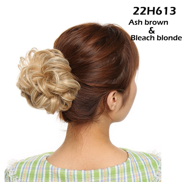 Chignon hair extension synthetic Scrunchies bun hairpiece for women