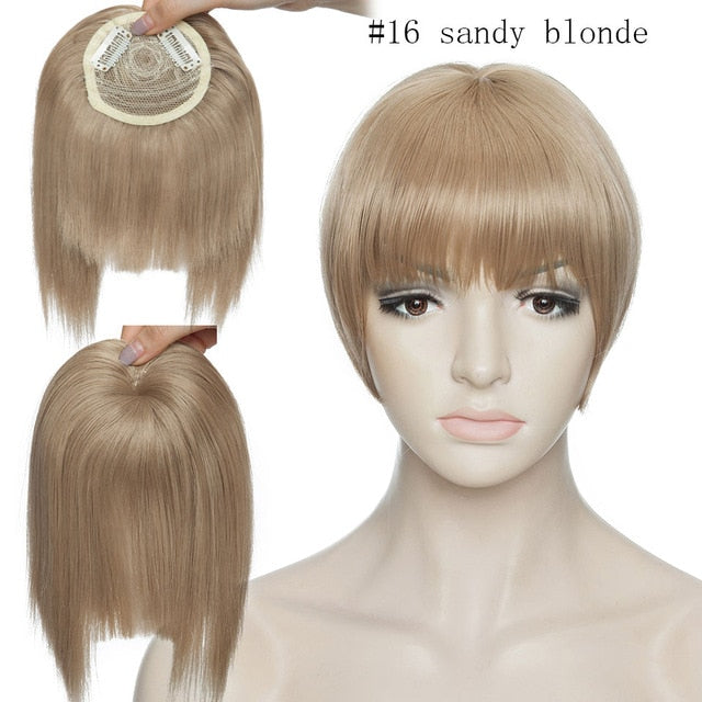 clip in fringe hair extension synthetic hair bangs