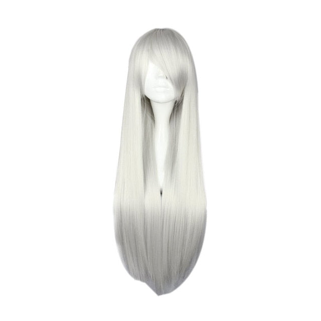 Multi-color 80cm Long Straight Wig